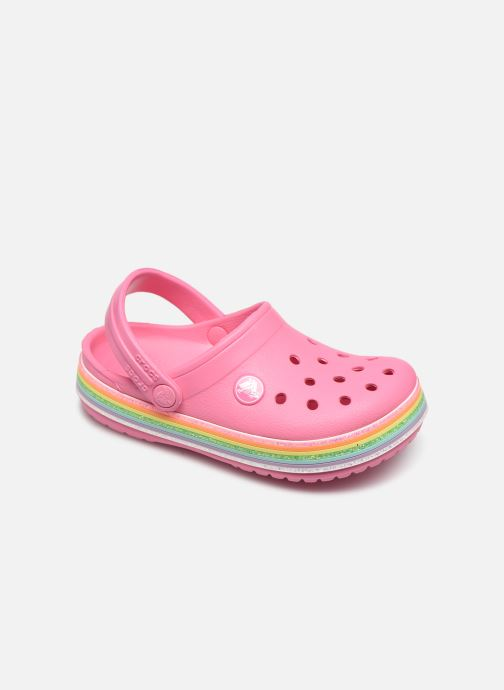 Sandalias Crocs Crocband Rainbow Glitter Kids Rosa vista de detalle / par