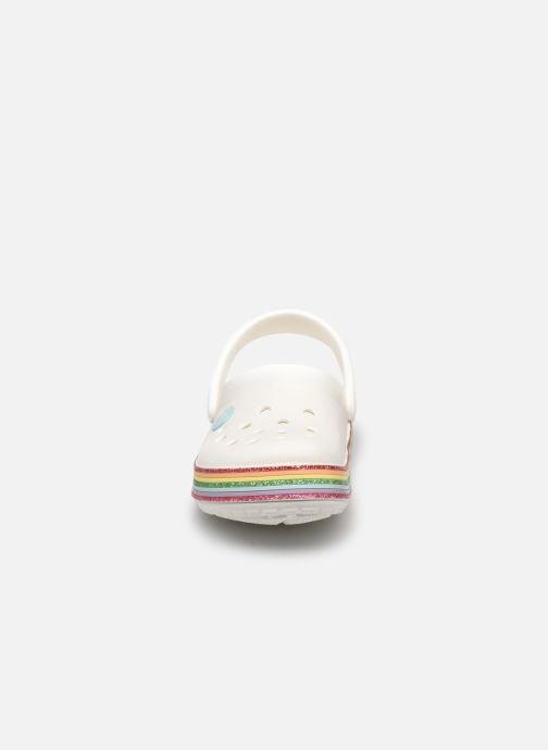 Sandalias Crocs Crocband Rainbow Glitter Kids Blanco vista del modelo