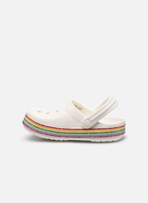 Sandalen Crocs Crocband Rainbow Glitter Kids weiß ansicht von vorne