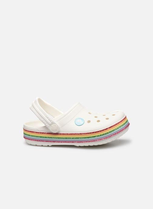 Sandalias Crocs Crocband Rainbow Glitter Kids Blanco vistra trasera