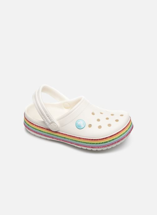 Sandalias Crocs Crocband Rainbow Glitter Kids Blanco vista de detalle / par
