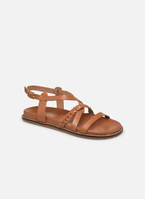 Sandales et nu-pieds L'Atelier Tropézien SH339 Marron vue détail/paire