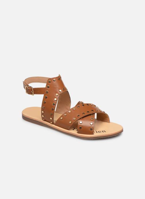 Sandales et nu-pieds L'Atelier Tropézien SH357 Marron vue détail/paire