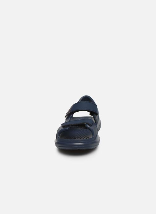 Sandali e scarpe aperte Crocs Swiftwater Expedition Sandal K Nero modello indossato