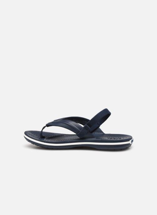 Slippers Crocs Crocband Strap Flip K Blauw voorkant