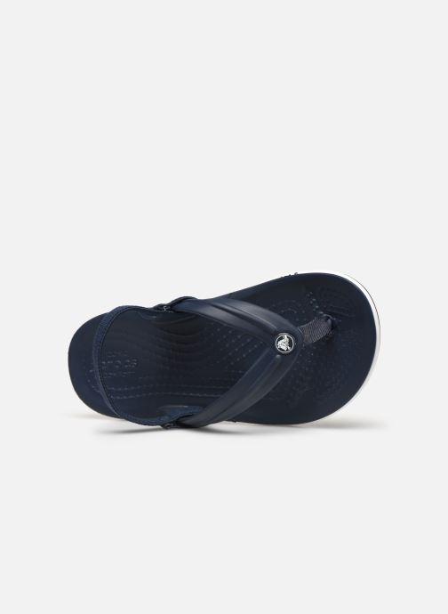 Slippers Crocs Crocband Strap Flip K Blauw links