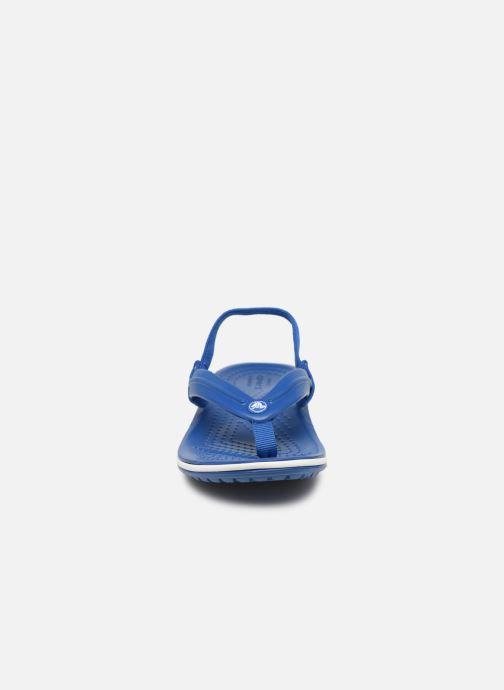 Zehensandalen Crocs Crocband Strap Flip K blau schuhe getragen