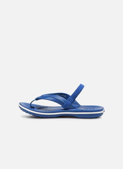 Zehensandalen Crocs Crocband Strap Flip K blau ansicht von vorne