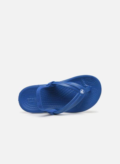 Zehensandalen Crocs Crocband Strap Flip K blau ansicht von links