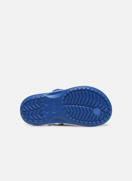 Zehensandalen Crocs Crocband Strap Flip K blau ansicht von oben
