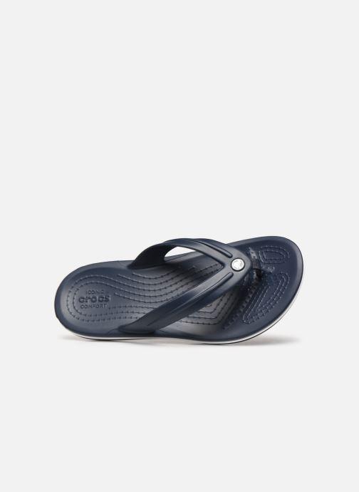 Tongs Crocs Crocband Flip GS Bleu vue gauche