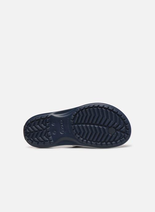 Tongs Crocs Crocband Flip GS Bleu vue haut