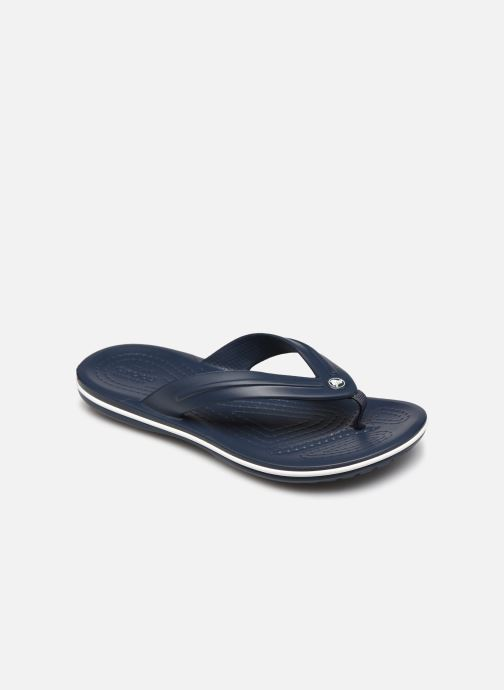 Tongs Crocs Crocband Flip GS Bleu vue détail/paire