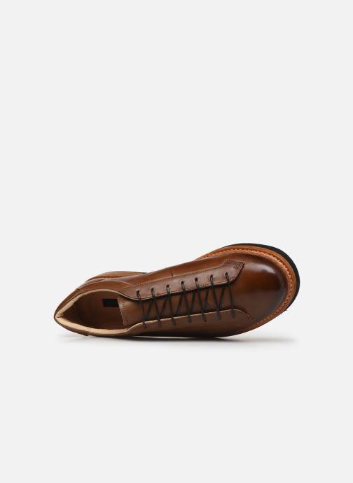 Zapatos con cordones Neosens Picudo S064 Marrón vista lateral izquierda