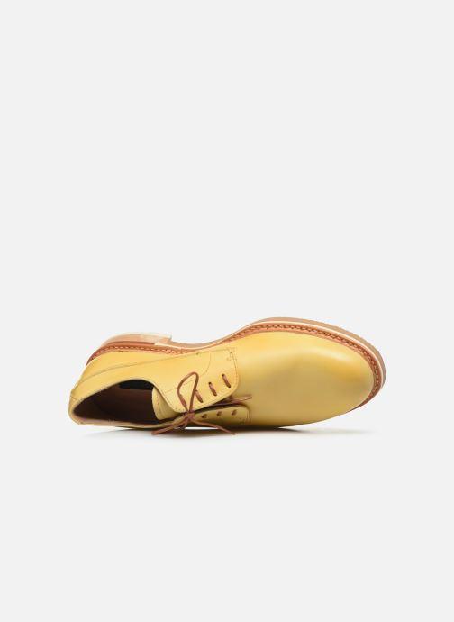 Zapatos con cordones Neosens Aris S090 Amarillo vista lateral izquierda