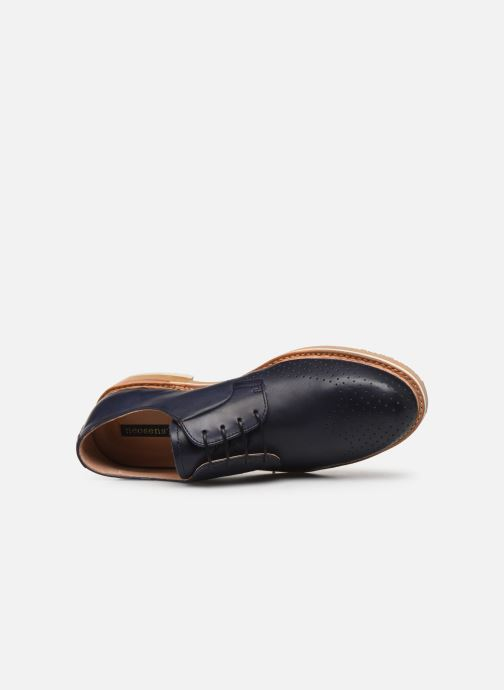 Zapatos con cordones Neosens Aris S091 Azul vista lateral izquierda