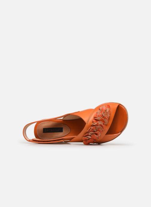 Sandalias Neosens Mulata S624 Naranja vista lateral izquierda