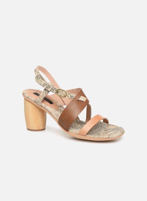 Sandales et nu-pieds Neosens Mulata S625 Marron vue détail/paire
