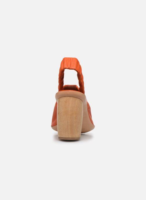 Sandales et nu-pieds Neosens Mulata S626 Orange vue droite