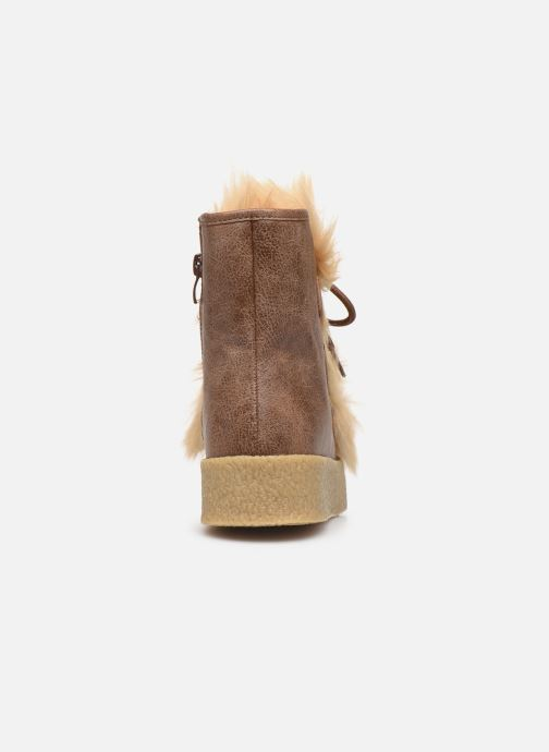 Bottines et boots Vanessa Wu BK1658 Beige vue droite