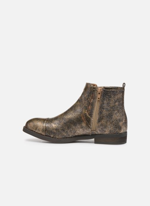 Ankle boots Vanessa Wu BT1635 Bronze and Gold front view
