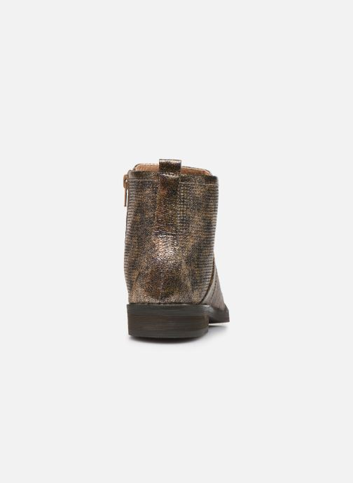 Ankle boots Vanessa Wu BT1635 Bronze and Gold view from the right