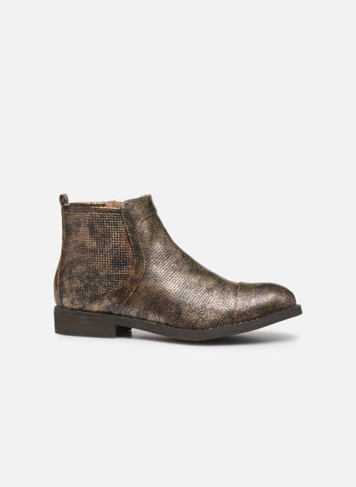 Ankle boots Vanessa Wu BT1635 Bronze and Gold back view
