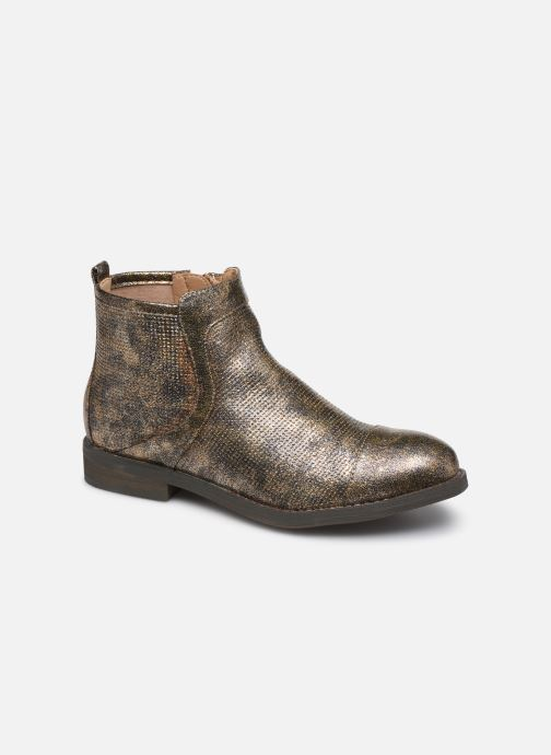 Ankle boots Vanessa Wu BT1635 Bronze and Gold detailed view/ Pair view