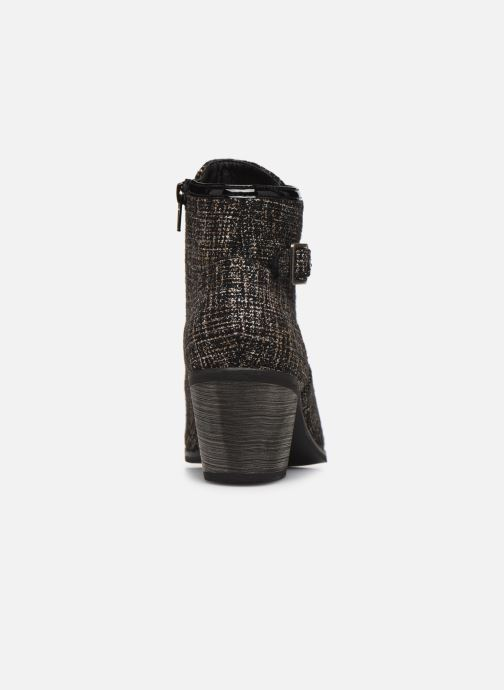 Ankle boots Vanessa Wu BT1801 Bronze and Gold view from the right