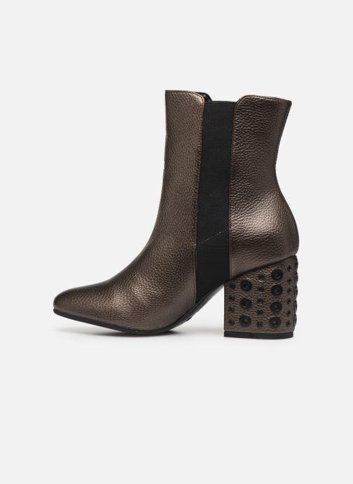 Bottines et boots Vanessa Wu BT1832 Or et bronze vue face