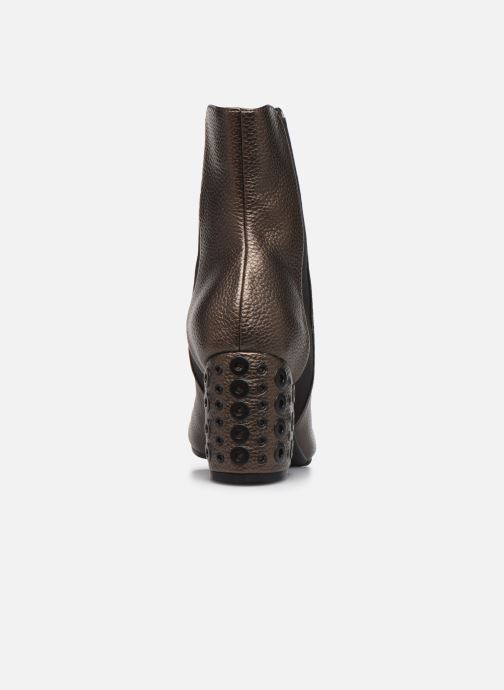 Ankle boots Vanessa Wu BT1832 Bronze and Gold view from the right
