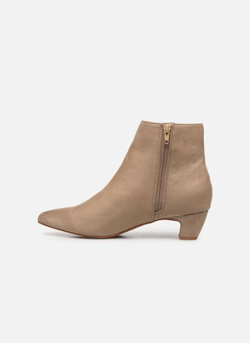 Ankle boots Vanessa Wu BT1883 Beige front view