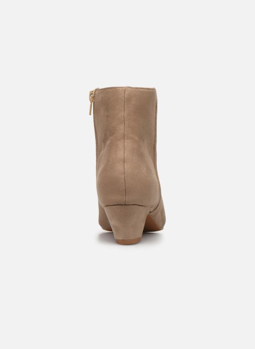 Ankle boots Vanessa Wu BT1883 Beige view from the right