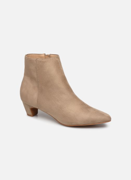 Ankle boots Vanessa Wu BT1883 Beige detailed view/ Pair view