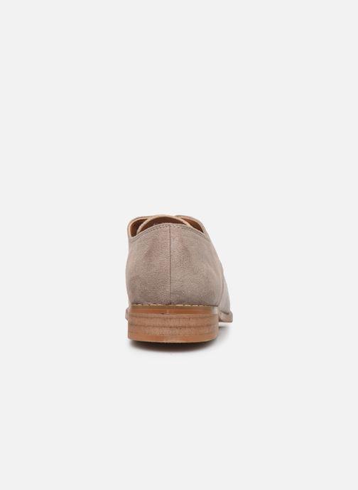 Zapatos con cordones Vanessa Wu RL1754 Gris vista lateral derecha