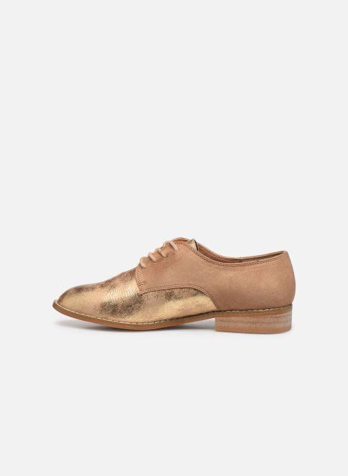 Zapatos con cordones Vanessa Wu RL1754 Beige vista de frente