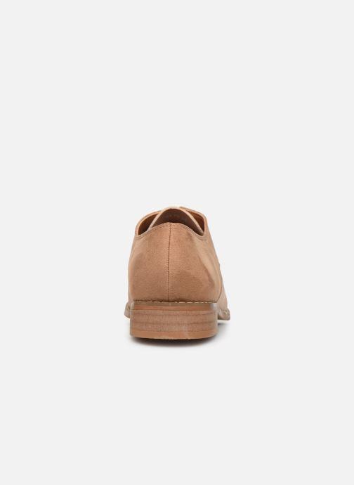 Zapatos con cordones Vanessa Wu RL1754 Beige vista lateral derecha