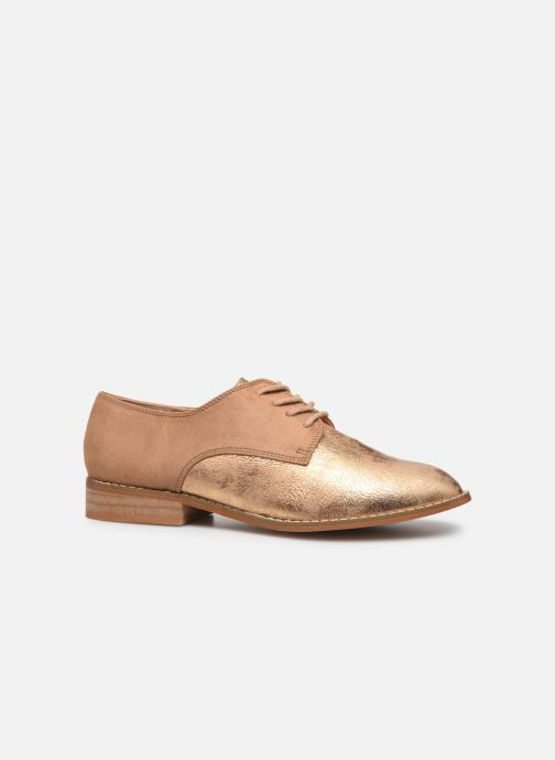 Zapatos con cordones Vanessa Wu RL1754 Beige vistra trasera