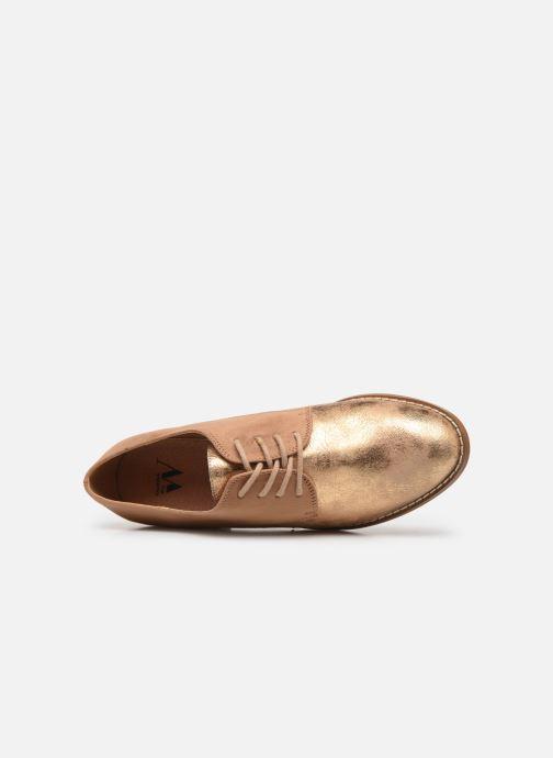 Zapatos con cordones Vanessa Wu RL1754 Beige vista lateral izquierda