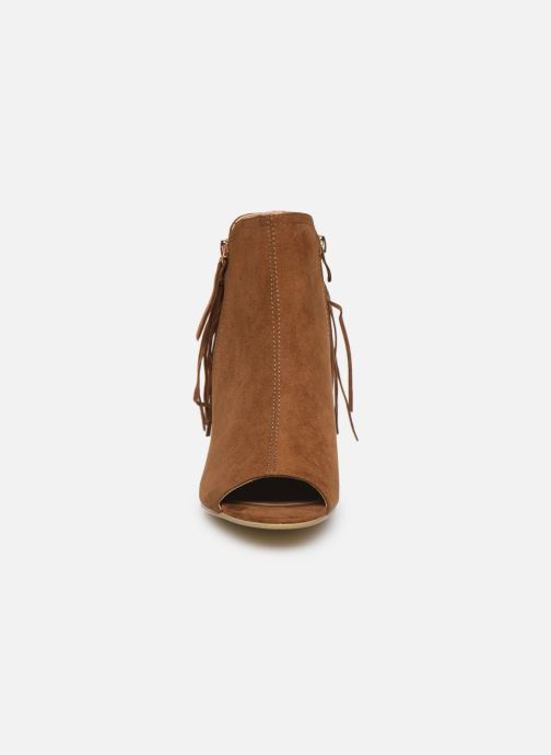 Stivaletti e tronchetti I Love Shoes KIPOME Marrone modello indossato