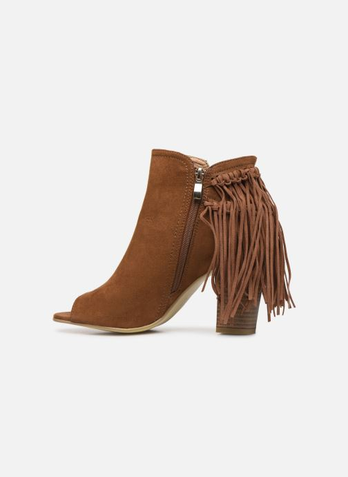 Ankle boots I Love Shoes KIPOME Brown front view