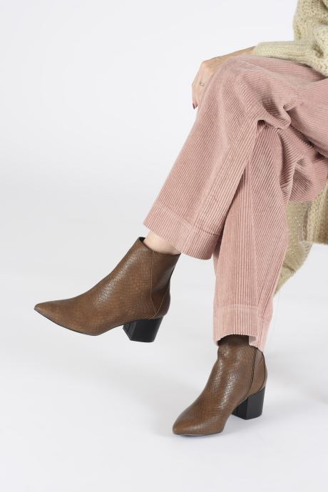Ankle boots I Love Shoes KIMACHE Brown view from underneath / model view