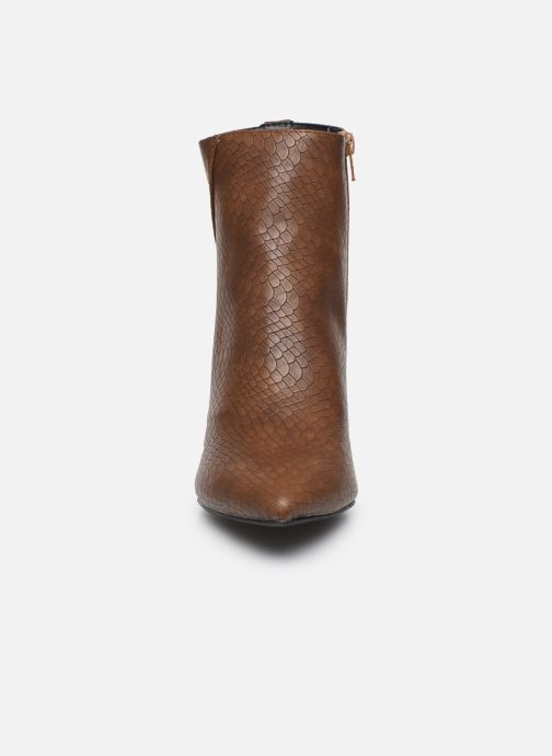 Ankle boots I Love Shoes KIMACHE Brown model view