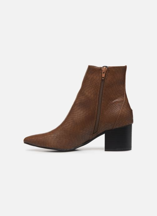 Ankle boots I Love Shoes KIMACHE Brown front view