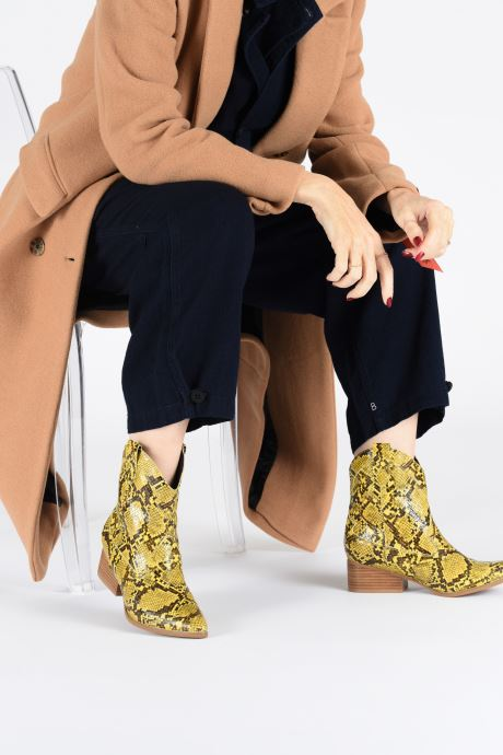 Ankle boots I Love Shoes KINOU Yellow view from underneath / model view