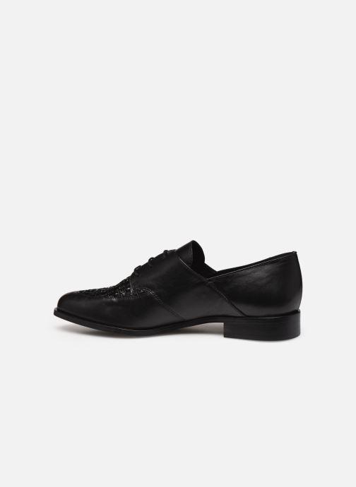 Zapatos con cordones COSMOPARIS ELENAGE Negro vista de frente
