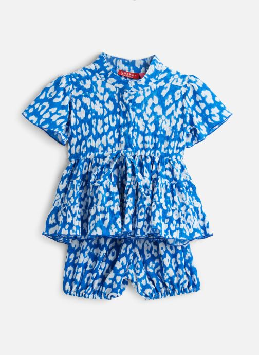 Bakker Made With Love Robe Mini - Dress Julia Bleu (leopart Sapphire)
