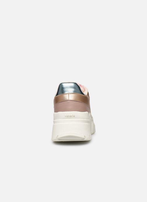 Sneakers Victoria TOTEM MONOCROMO DETAL Roze rechts