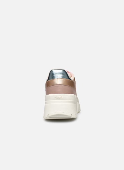 Sneakers Victoria TOTEM MONOCROMO DETAL Rosa immagine destra