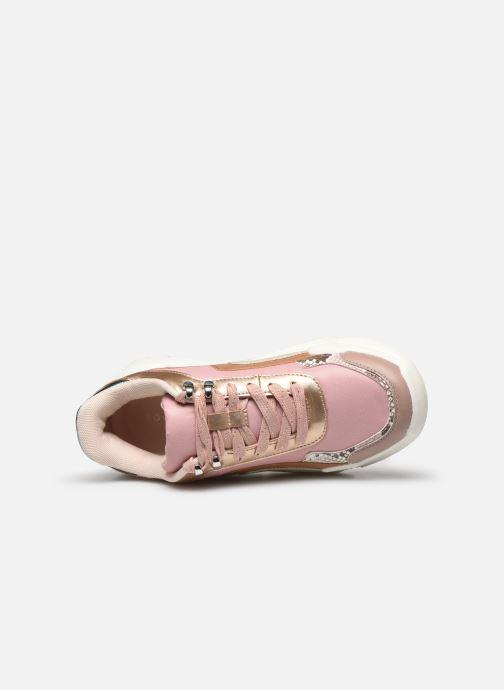 Sneakers Victoria TOTEM MONOCROMO DETAL Rosa immagine sinistra